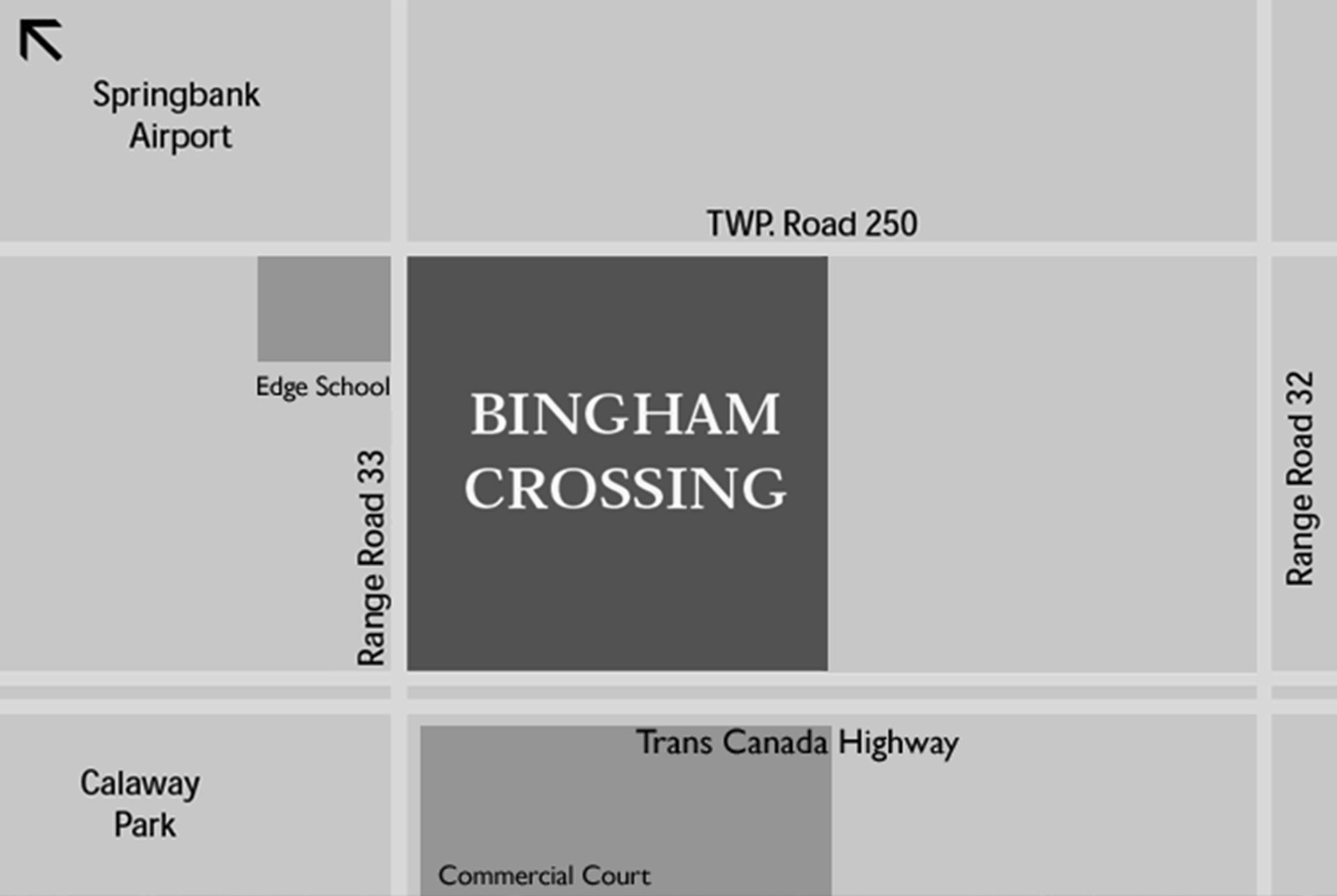 Bingham Crossing Location Map